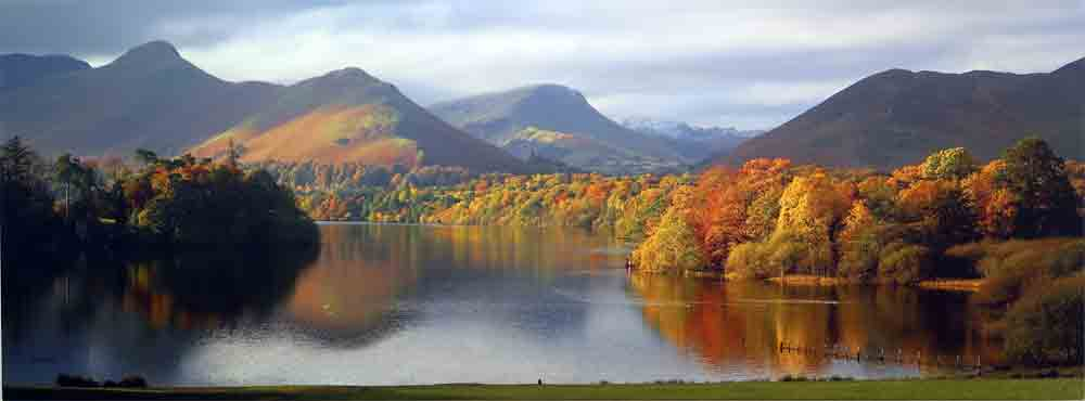 Derwentwater  print on canvas by Fred Hill