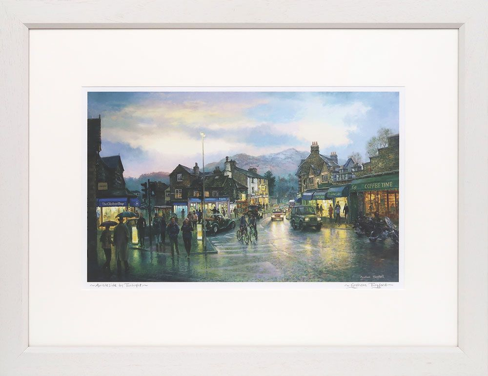 Ouitside, out there Coniston, signed print by Graham Twyford