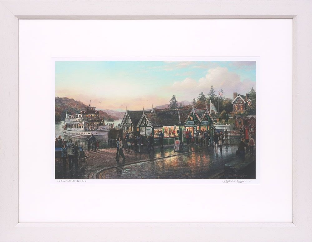 Bowness at dusk , signed print by Graham Twyford