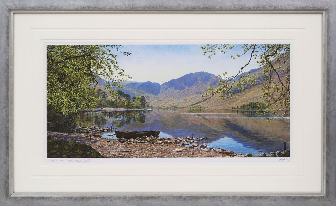 Buttermere from Dalegarth signed print by Keith Melling