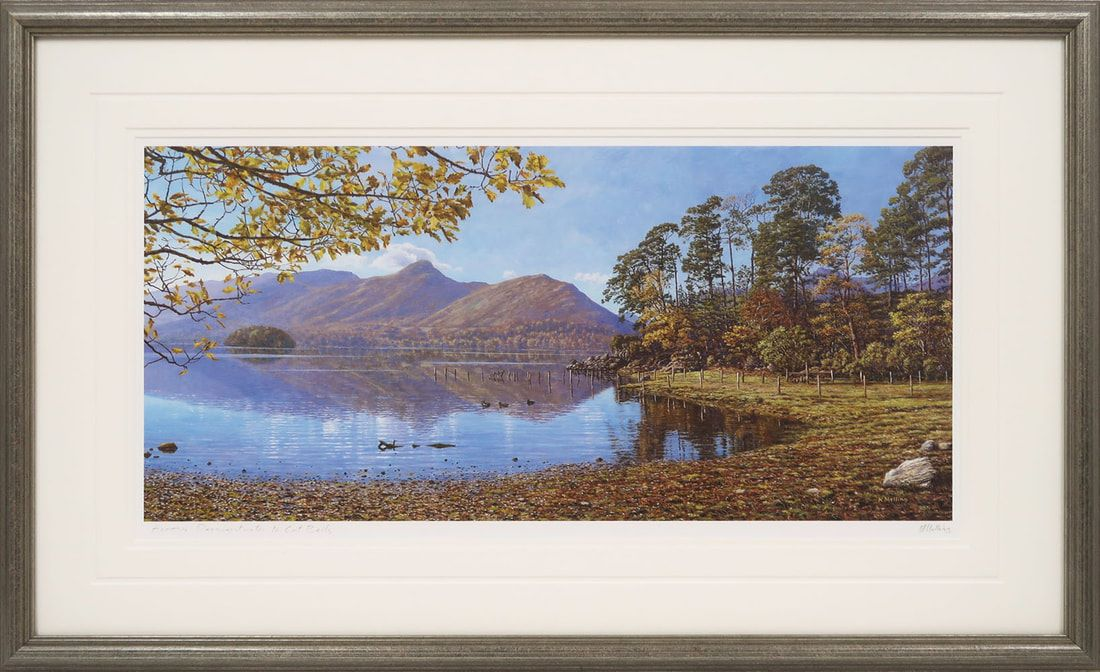 Across Derwentwater to Catbells  signed print by Keith Melling